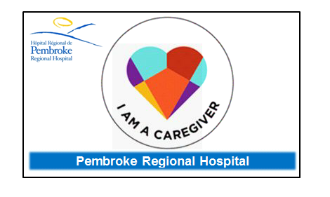 Graphic depiction of new caregiver badge